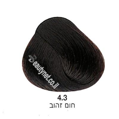 צבע לשיער ללא I PPD צבע לשיער ללא אמוניה חום זהב