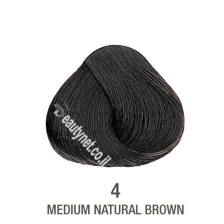 צבע לשיער ללא I PPD צבע לשיער ללא אמוניה 4 בסיס חום בינוני