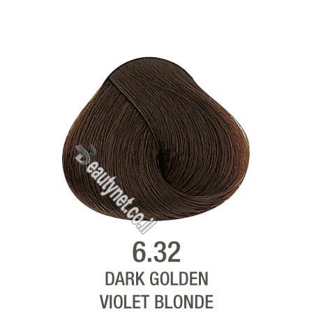 צבע לשיער ללא I PPD צבע לשיער ללא אמוניה חום שטני 6.32