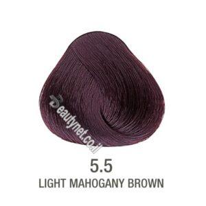 צבע לשיער ללא I PPD צבע לשיער ללא אמוניה חום מהגוני 5.5