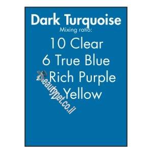 צבע לשיער על בסיס מים טורקיז כהה