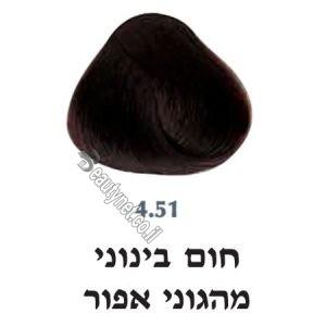 צבע לשיער 4.51 חום בינוני מהגוני אפור