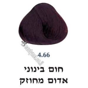 צבע לשיער 4.66 חום בינוני אדום מחוזק