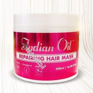 מסכה לאחר החלקה הודית INDIAN OIL - שמן הודי I מוצרי שיער מקצועיים